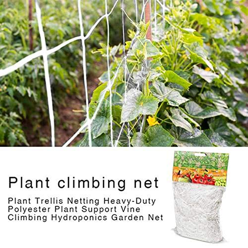 Che Plant Treillis Net Heavy-Duty Polyester Plant Support Vine Garden Anti Bird Protection Seeds Vegetables Garden Mesh for Plants