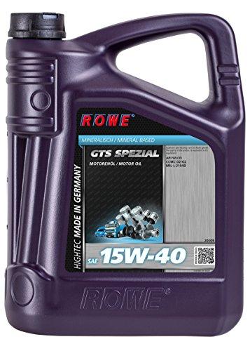 ROWE HIGHTEC GTS SPEZIAL SAE 15W-40 - 5 Liter Motoröl für gemischten Fuhrpark mineralisch | Made in Germany