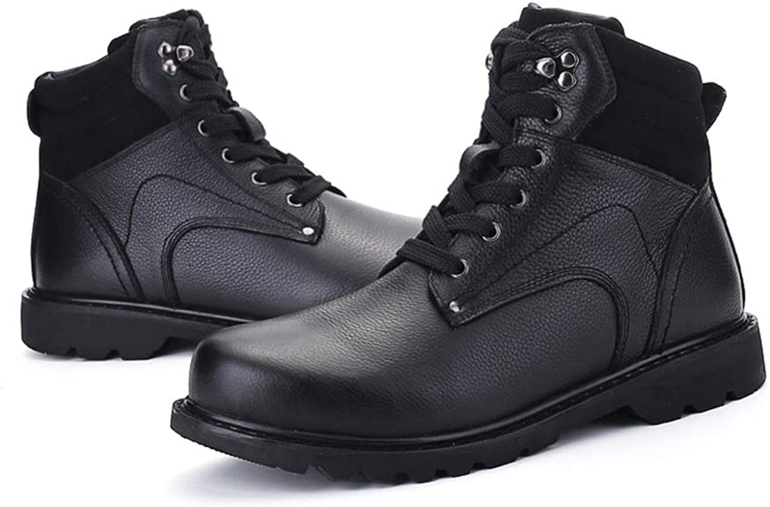 Ying xinguang Herren Modische Stiefeletten Stiefeletten Stiefeletten Casual Winter High Top Outdoor Schnürung Outsole Arbeitsschuhe (Color : Schwarz, Größe : 48 EU) B07MQSPD68  622cac