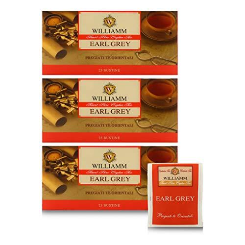 Te Earl Grey - Blend de Tes Negros de Ceilan - 25 Bolsitas de 2g - Williamm (Paquete de 2 Piezas)