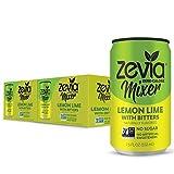 Zevia Zero Calorie Mixer, Lemon Lime With Bitters, 7.5 Ounce Cans (12...