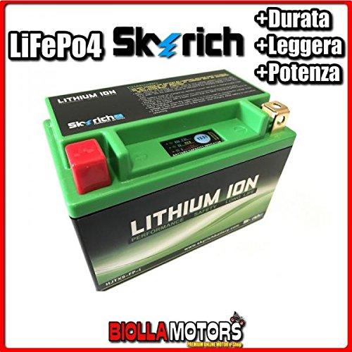 HJTX9-FP BATTERIA LITIO SKYRICH YTX9-BS LiFePo4 612090 YTX9BS MOTO SCOOTER QUAD CROSS