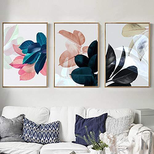 FairOnly - Quadro da parete in tela con motivo a foglie, 30 x 40 cm(senza cornice)