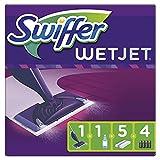 Swiffer WetJet Balai Lave Sol avec Spray, Kit de Démarrage avec 1 Balai Spray +5 Lingettes +1 Solution Nettoyante...