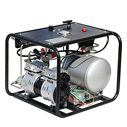HPDMC Oil-free Hookah Dive System, 110V Electronic Compressor with...