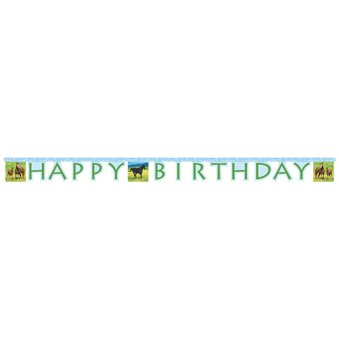 Creative Converting Wild Horses Happy Birthday Jointed Party Banner