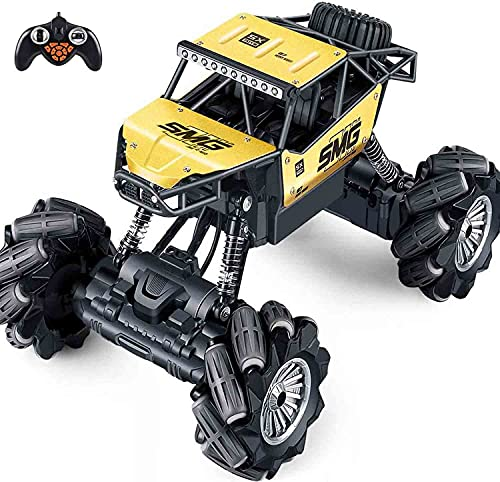 Outerman 1:14 Off-Road Monster Truck, 360° Rotation RC Crawler Rechargeable Cars with 14 Play...