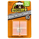 Gorilla Tough & Clear Double Sided Mounting Tape Squares, 24 1' Pre-Cut Squares, Clear, (Pack of 1)