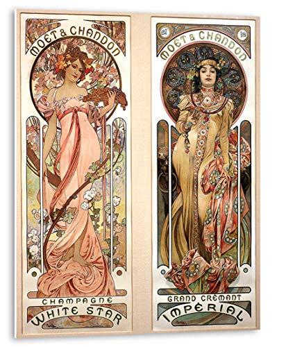 Cuadro Adhesivo para Cocina de Alfons Mucha   Art Nouveau