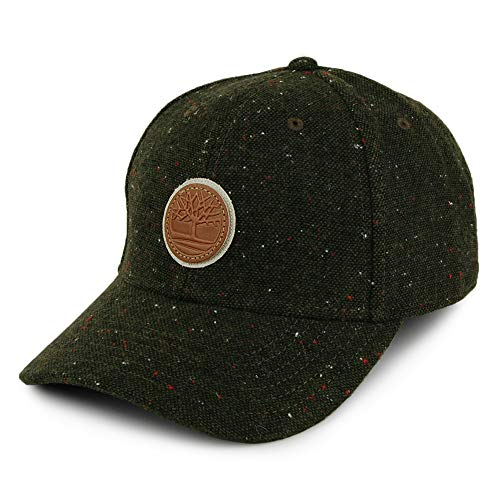 Timberland Gorra Snapback de Tweed Verde Oliva - Ajustable
