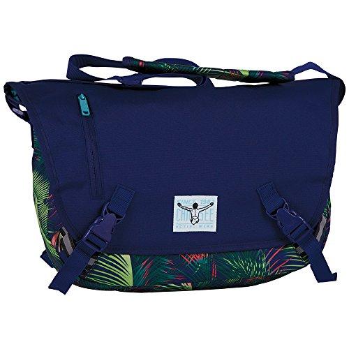 Chiemsee - Borsa messenger grande, unisex, 10 x 29 x 41 cm, Multicolore (Springs di palma multicolore), 10x29x41 cm (B x H x T)