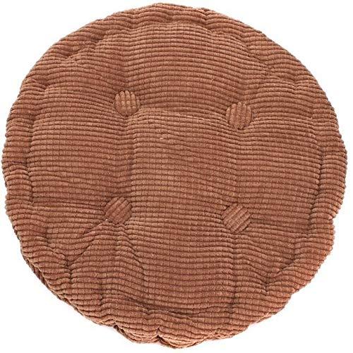 Cojín del Asiento 36 * 38 cm Ronda Presidente del Enrejado Cojín Blando y Grueso Lavable de algodón Cojín de Suelo Colorido (Color : Coffee)