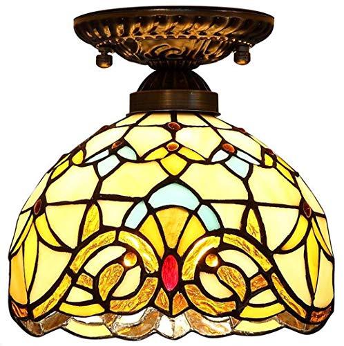 Lage prijs tafellamp bedlampje kristallen kroonluchter hanglamp wandlamp plafondverlichting plafondverlichting 8 inch glad schilderij plafondlamp, creatieve barokke plafondlampen voor restaurant gang