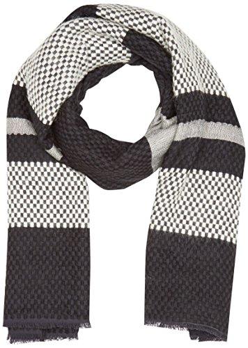 Levi's Damen Engineered Stripe Wrap Tuch, Schwarz (Noir Regular Black), One size (Herstellergröße: UN)