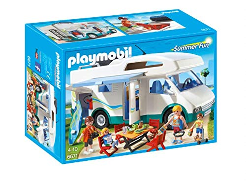 PLAYMOBIL Family Fun sommerliches Wohnmobil, Mehrfarbig (6671)