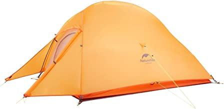 Cloud-Up 2 Person Lightweight Backpacking Tent with Footprint - 4 Season Free-Standing Dome Camping Hiking Waterproof Backpack Tent - Flashlight Bundle