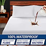 Supremo Craft Queen Mattress Protector - 100% Waterproof Mattress Pad - Breathable Ultrasoft Noiseless, Deep Pocket, Premium Fitted, Vinyl Free - Mattress Cover