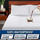 Supremo Craft Waterproof Mattress Protector Queen Size - 100% Organic Cotton Breathable Mattress