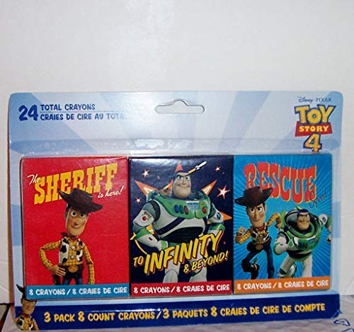 Toy Story 4 Crayon Set Of 3 Packs 24 Crayons Total
