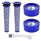 Leadaybetter Filtro per Dyson V8 2 Pezzi Pre Filtro e Post Filtro per Dyson V7 V8 Filtro di Ricambio per Aspirapolvere Dyson V8 V7 Filtro