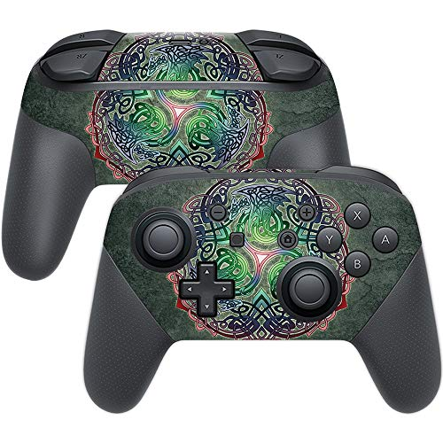 MightySkins Skin Compatible with Nintendo Switch Pro Controller - Celtic Dragon | Protective, Durable, and Unique Vinyl Decal wrap Cover | Easy to Apply, Remove, and Change Styles | Made in The USA