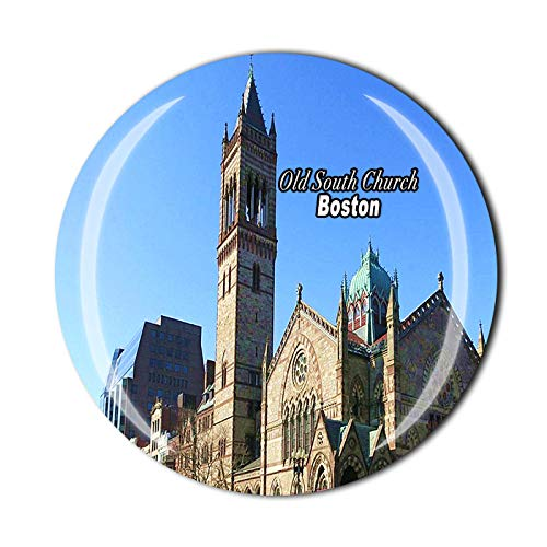 Old South Church Boston USA 3D-Kühlschrankmagnet, Souvenir, Kristallglas, Magnet, Reise-Souvenir-Kollektion, Geschenk, Heimküchendekoration