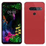 TBOC Red Ultra Thin TPU Silicone Gel Case for LG G8s ThinQ