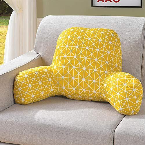 Komfortables Lendenkissen Lesekissen Rückenkissen Bücherkissen Fernsehkissen Bedrest Weich Plüsch Kissen für Auto, Bett, Büro-Stuhl und Sofa
