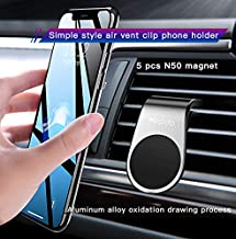 Car Phone Holder, Universal Magnetic Air Vent Mount Kit Black for All Smartphones,iPhone Xs/XR/XS MAX/X 8 Plus 7 6, Samsun...