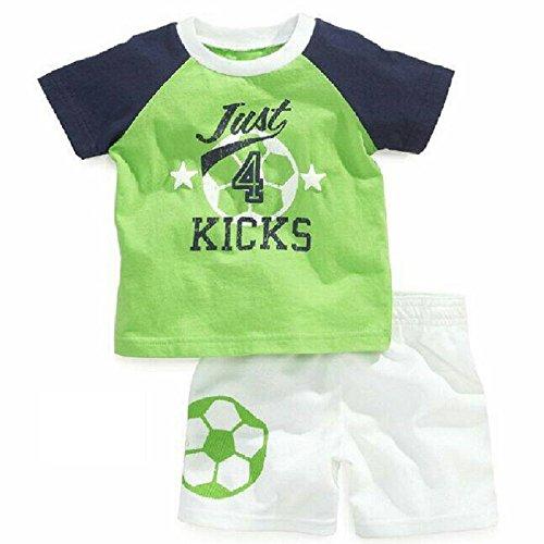 Hooyi - Ensemble de pyjama - Bébé (garçon) 0 à 24 mois Vert Green - Vert - XL
