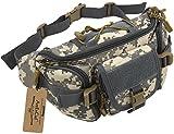 ArcEnCiel Tactical Fanny Pack for Men Waist Bag Military Hip Belt Outdoor Hiking Fishing Bumbag (ACU Camouflage)