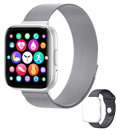 Smart Watch,Smartwatch 1.55-Zoll Sportuhr Fitness-Tracker Anrufe tätigen mit IPS-Touchscreen Herzfrequenz und Schlaftracking Wasserdicht Kompatibel ,Musik Wiedergabe&Bluetooth Telefonie, wasserdicht