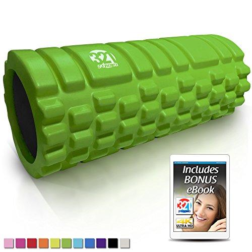 Best Deals! 321 STRONG Foam Roller - Medium Density Deep Tissue Massager for Muscle Massage and Myof...