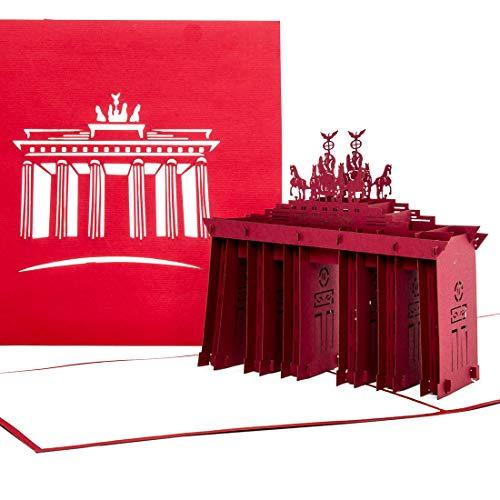 """Pop up-kort """"Berlin – Brandenburger Tor"""" – bolag och reseseguber som 3D-kort – som inbjudning, kreditkort, inbjudningskort och födelsedagskort en fantastisk presentidé"""