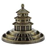 Hilitand 6 Pulgadas Modelo del Templo del Cielo de China Metal Templo del Templo del Templo de Pekín Modelo Famoso Famoso Edificio histórico de Pekín