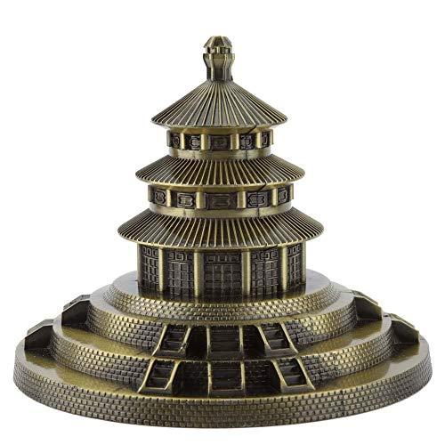 Hztyyier Ornamento de Metal estatuilla, Templo de Pekín Estatua Mano Creativa Soldadura decoración para el hogar Lugares de interés Mundial de Arte de fundición Regalos