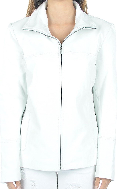 Fadcloset Womens White Leather Blazer