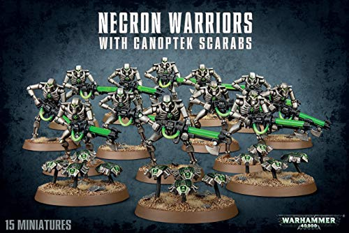 Games Workshop 99120110034 Necron Warriors mit canoptek scarabs Plastic Kit