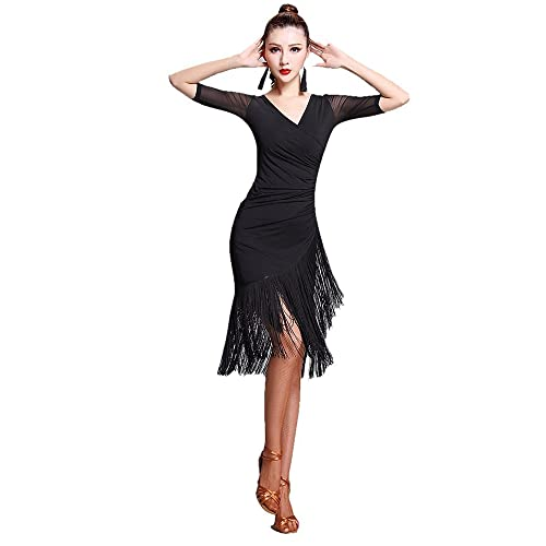 462fadbb98b1 TALENT PRO Latin Rhythm Ballroom Carmen Fringe Tango Dance Dress (X-Large)