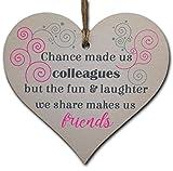 H<span class='highlight'>an</span>dmade Wooden H<span class='highlight'>an</span>ging Heart Plaque Gift for Colleague Keepsake for Friend