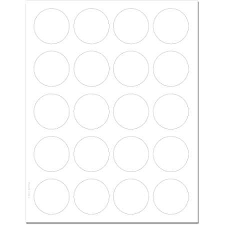 200 Labels Standard White Matte Circle Labels 1.75 Inch Diameter with Downloadable Template and Printing Instructions XR75 10 Sheets