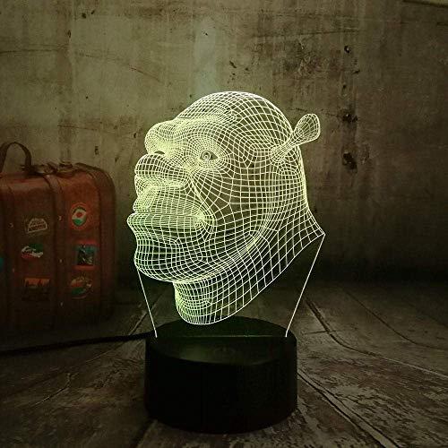 3D Night Light New Shrek Lamp Led 3D Visual Led Night Lights for Kids Touch Table Baby Sleeping Night Light