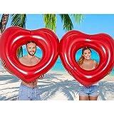 XWQXX Foto Inflable del Amor de la natación del Amor de los Lazos Dobles estupendos Grandes de la natación de los Pares de la Vida,Red-OneSize