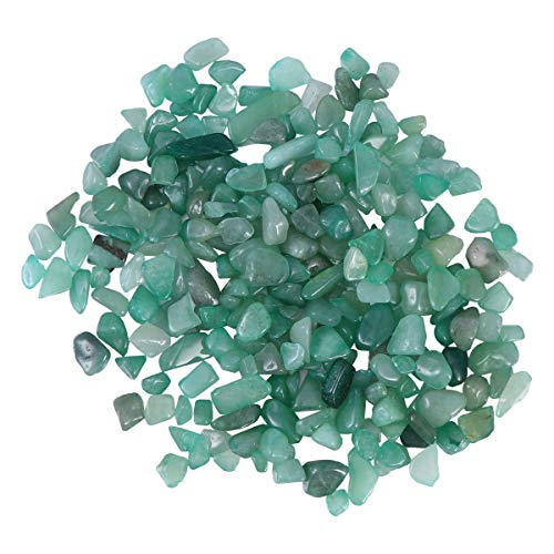 VORCOOL Chips de aventurina Piedra triturada Cristal Rocas Naturales Forma Irregular Piedras Decorativas caseras para jardín de Plantas suculentas