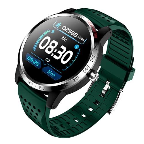 ZGZYL W3 Smart Watch Men with Sangre Oxygen ECG PPG Presión Arterial Monitor De Ritmo Cardíaco Hombre Fitness Tracker Podómetro Reloj Deportivo Impermeable para iOS Android,D