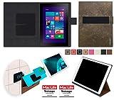 reboon Hülle für Dell Venue 10 Pro Tasche Cover Case Bumper | Testsieger | Braun Wildleder
