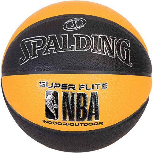 Spalding NBA Super Flite - Balón de baloncesto, color negro y naranja