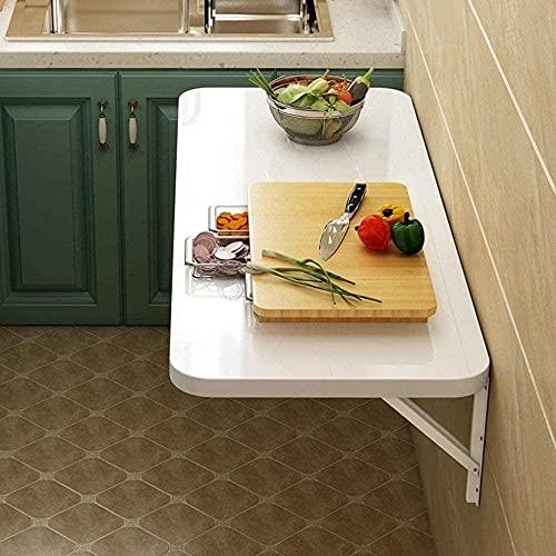 Mesa plegable de madera con pinza de metal para oficina, lavadero, comedor, ordenador de mesa de trabajo, ordenador de escritorio, 70 cm x 50 cm.