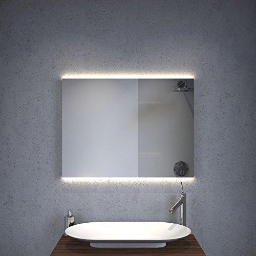 Badkamerspiegel met Hi-Power LED-verlichting ambilight, sensor en verwarmingsfolie 80x60 cm
