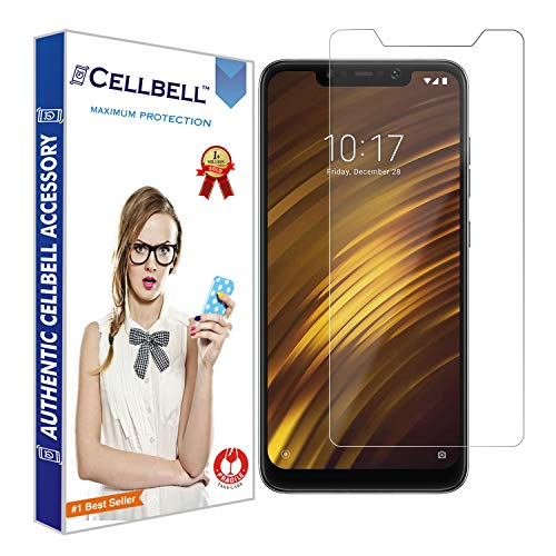CELLBELL Tempered Glass Screen Protector with Installation Kit for Xiaomi Poco F1